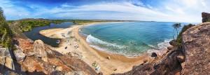 Arugam Bay crescent shape surfing bay
